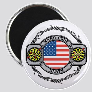 USA Hard Core Darts Magnet