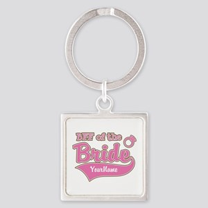 BFF of the Bride Square Keychain