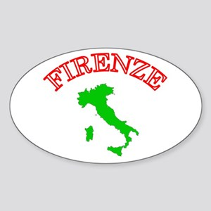 Firenze, Italia Oval Sticker
