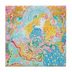Art Nouveau Lady Tile Coaster