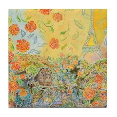 Bon Jour Tile Coaster