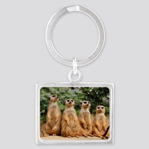 Meerkat-Quartett 001 Landscape Keychain