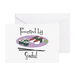 Powered by Sushi Greeting Cards (Pk of 10)