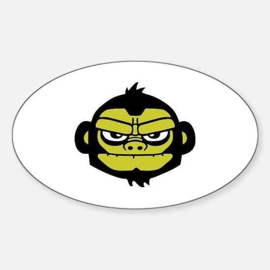 gorilla Sticker (Oval)