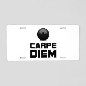 Carpe Diem Bowling Aluminum License Plate