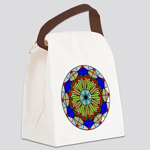 Colorful Stained Glass Canvas Lunch Bag