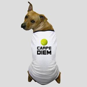 Carpe Diem Tennis Dog T-Shirt