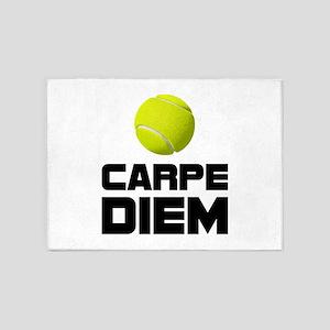 Carpe Diem Tennis 5'x7'Area Rug