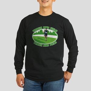 Mens Track and Field Long Sleeve Dark T-Shirt