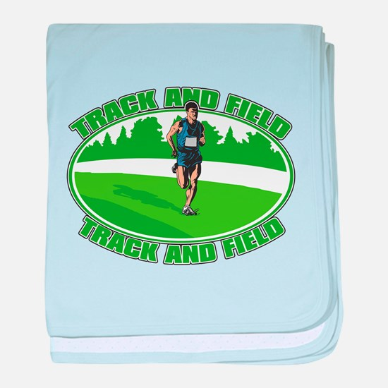 Mens Track and Field baby blanket