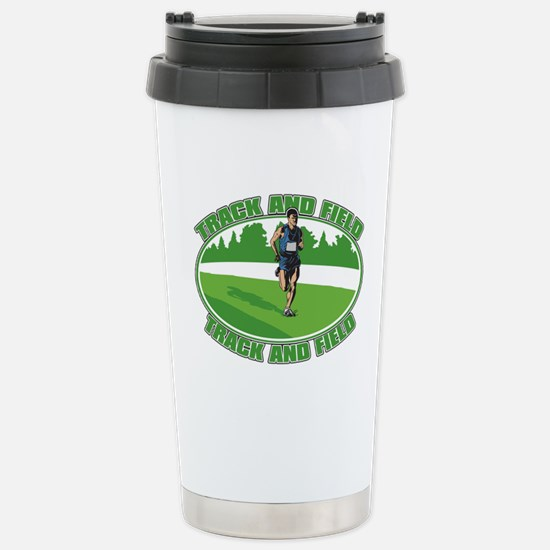 Mens Track and Field Stainless Steel Travel Mug