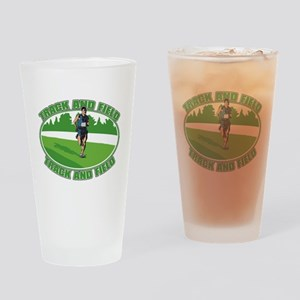 Mens Track and Field Drinking Glass