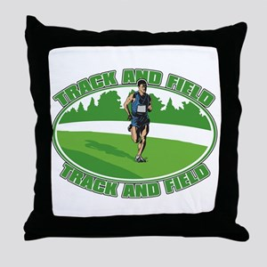 Mens Track and Field Throw Pillow
