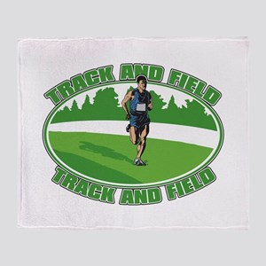 Mens Track and Field Throw Blanket