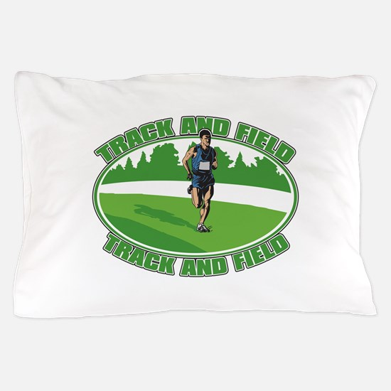 Mens Track and Field Pillow Case