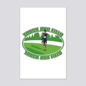 Mens Track and Field Mini Poster Print