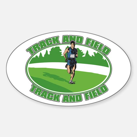 Mens Track and Field Sticker (Oval)
