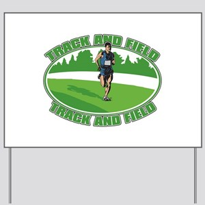 Mens Track and Field Yard Sign