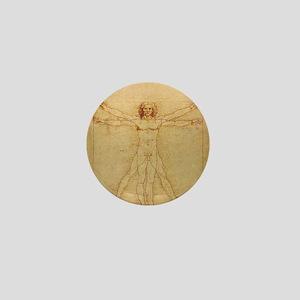 Leonardo Da Vinci Vitruvian Man Mini Button