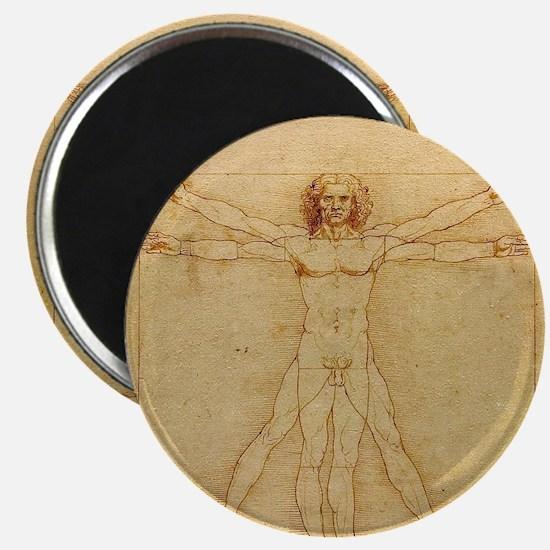 Leonardo Da Vinci Vitruvian Man Magnet