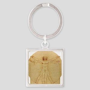 Leonardo Da Vinci Vitruvian Man Square Keychain