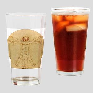 Leonardo Da Vinci Vitruvian Man Drinking Glass