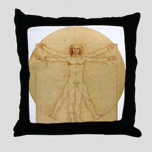 Leonardo Da Vinci Vitruvian Man Throw Pillow