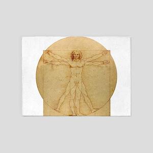 Leonardo Da Vinci Vitruvian Man 5'x7'Area Rug