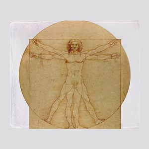 Leonardo Da Vinci Vitruvian Man Throw Blanket
