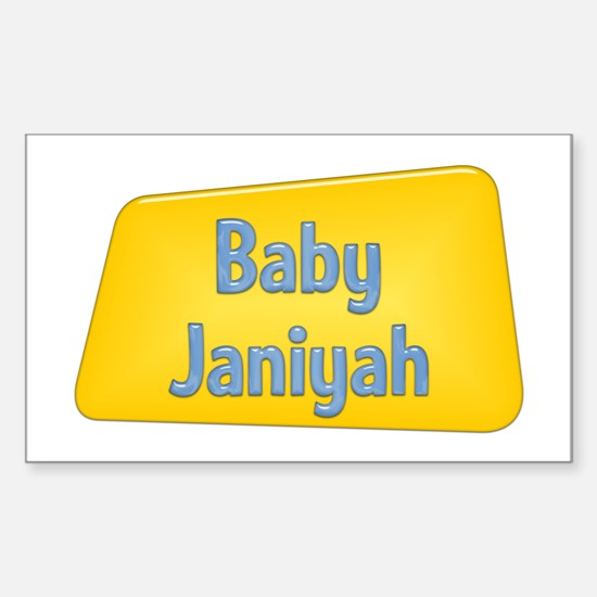 Baby Janiyah Rectangle Decal