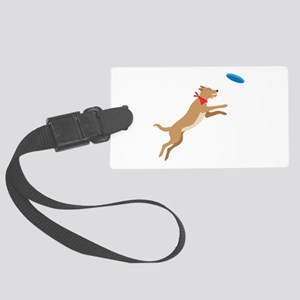 Frisbee Pup Luggage Tag
