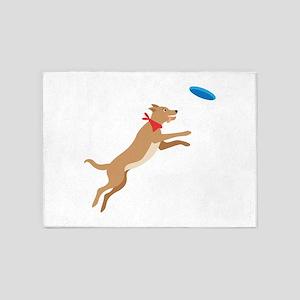 Frisbee Pup 5'x7'Area Rug