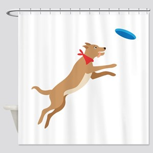 Frisbee Pup Shower Curtain