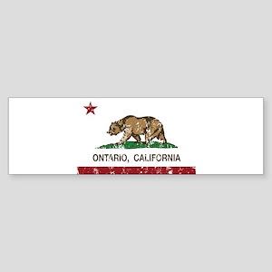 Ontario California Republic Flag Distressed Bumper