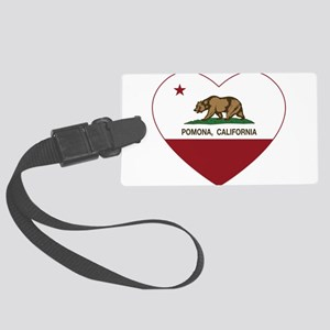 Pomona California Republic Heart Luggage Tag