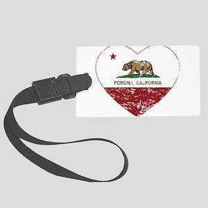 Pomona California Republic Heart Distressed Luggag