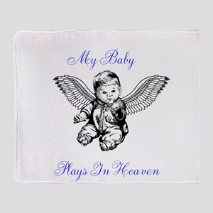 My Baby Plays In Heaven Throw Blanket