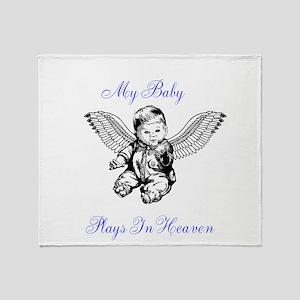 My Baby Plays In Heaven Throw Blanket