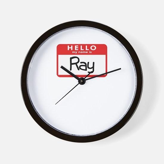 Hello Ray Wall Clock