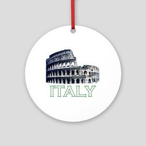Italy (Colosseum - Dark) Ornament (Round)