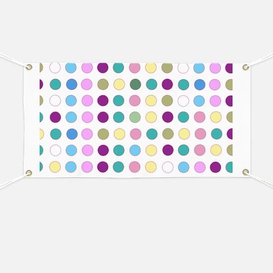 Colorful Polka Dots Banner