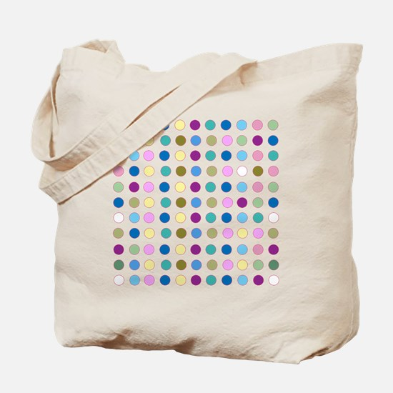 Colorful Polka Dots Tote Bag