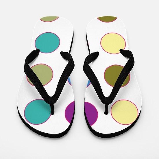 Colorful Polka Dots Flip Flops