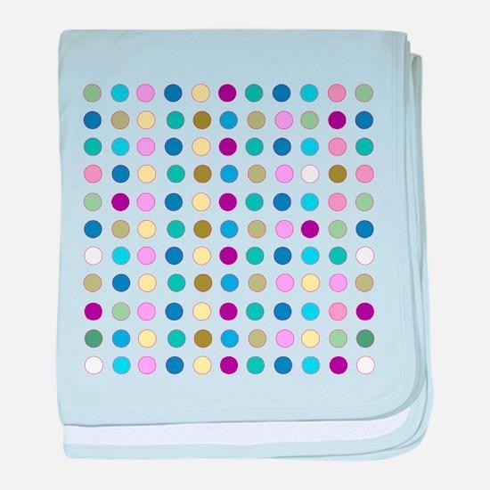 Colorful Polka Dots baby blanket