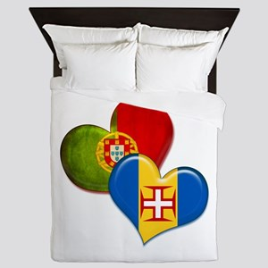 Portugal and Madeira hearts Queen Duvet