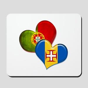 Portugal and Madeira hearts Mousepad