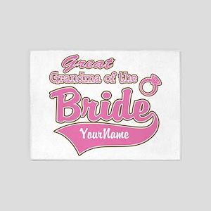 Great Grandma of the Bride 5'x7'Area Rug