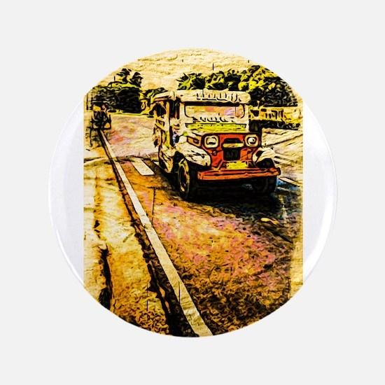 "Manila Jeepney 2 3.5"" Button"