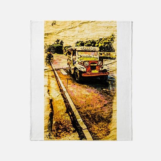 Manila Jeepney 2 Throw Blanket