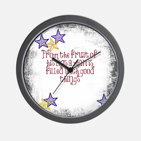 Fruit of his lips Wall Clock